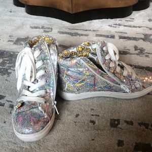 Steve Madden sequin hightops